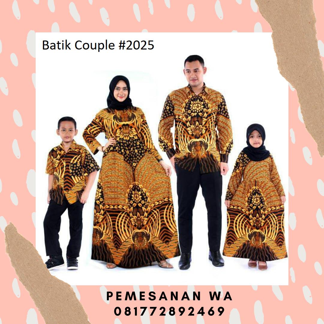 reportercanina: Setelan model baju gamis batik couple keluarga