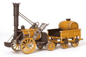 La locomotora, invento del ingeniero británico Stephenson