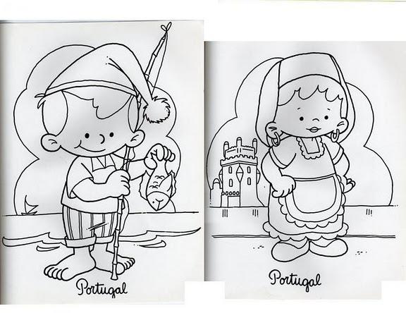 Dibujos De NiÑos Por Nacionalidades: Dibujos De Niños De Diferentes Paises Para Colorear