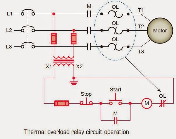 circuit breaker symbol diagram wiring fuse electrical engineering world: thermal overload relay operation