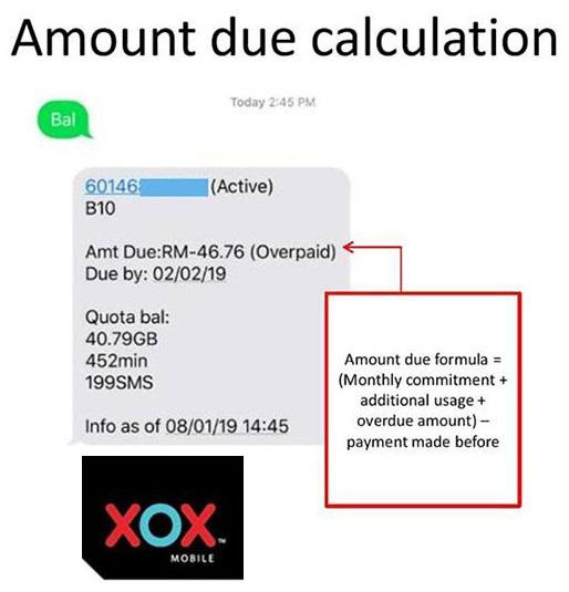 xox check balance