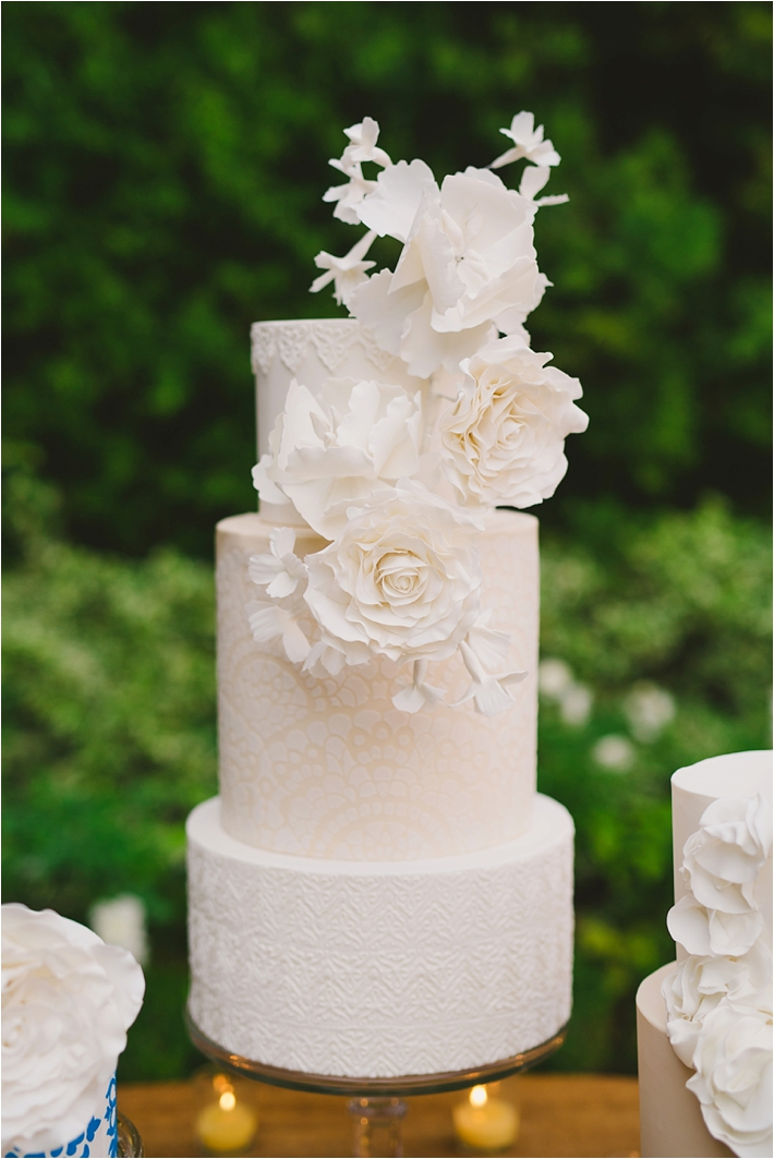 Elegant Spanish and Lace inspired wedding cake by RooneyGirl BakeShop