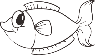 Gambar Sketsa Ikan