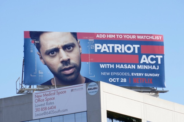 Patriot Act Hasan Minhaj billboard