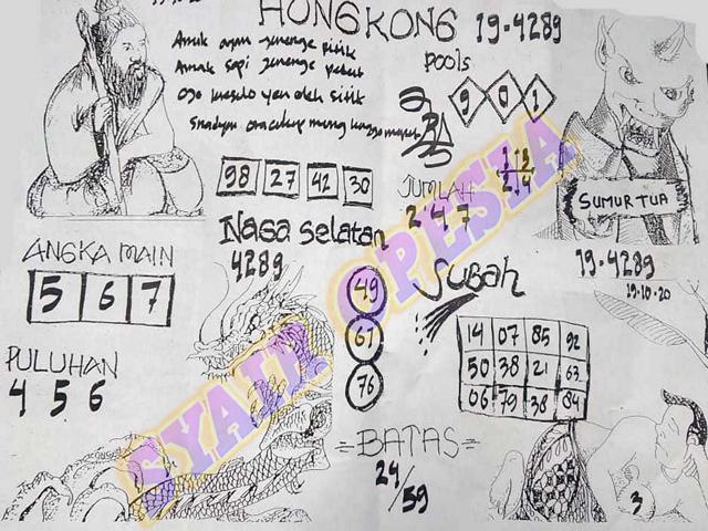 Kode syair Hongkong senin 19 oktober 2020 68