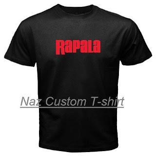 Naz custom t shirt rapala fishing custom black t shirt for Fishing logo t shirts