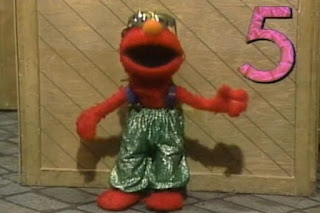 Elmo and two muppets sing Elmo's Jive Five about number 5. Sesame Street 123 Count with Me