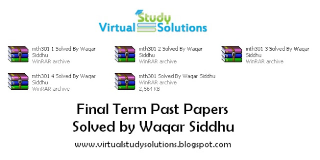 MTH301 Final Term Past Papers Solved by Waqar Siddhu Preview