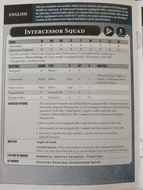 Hoja de datos Intercessor Squad