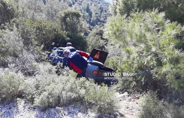 Έπεσε αυτοκίνητο σε γκρεμό 30 μέτρων στο Κολιάκι Αργολίδας - Εγκλωβισμένος ο οδηγός