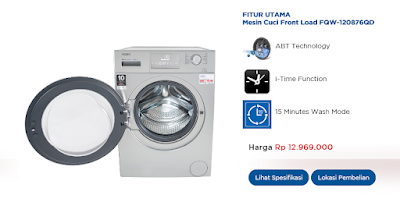 mesin cuci 1 tabung AQUA Japan