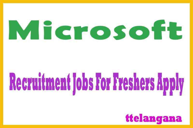 Microsoft Recruitment Jobs For Freshers Apply