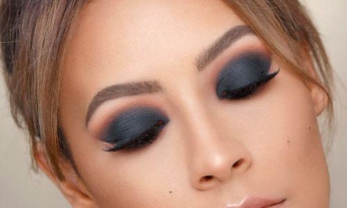 Smokey eyes negro y marrón