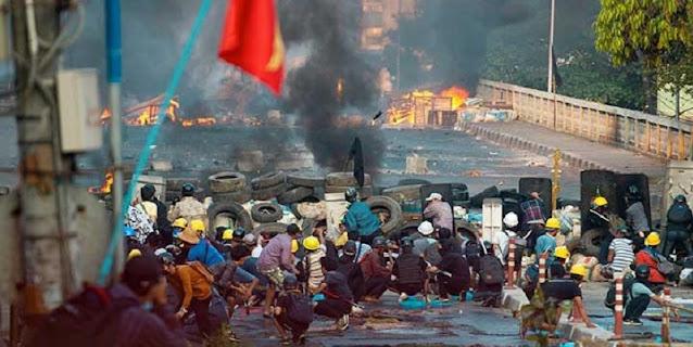 Tujuh Warga Sipil Kena Sasaran Petugas, Total Korban Tewas Di Myanmar Capai 581 Orang