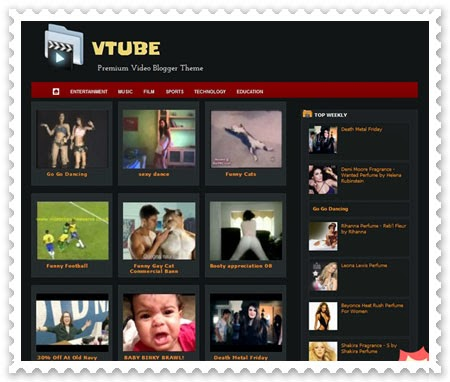 you tube blogger template