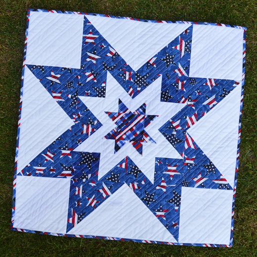 Patriotic Star Quilt Quilt designed by Inspired by Fabric