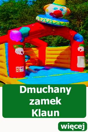 Dmuchany zamek Klaun Dmuchańce, festyn, piknik, atrakcje dla dzieci