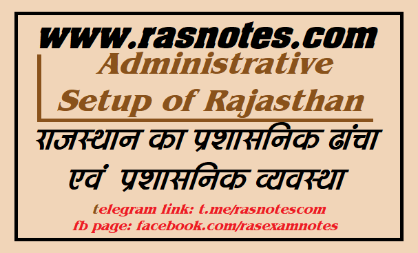 Administrative structure of Rajasthan [Useful Exam Facts Updated] | rasnotes.com