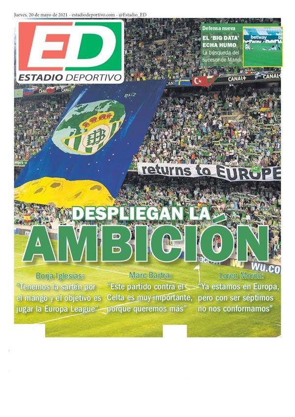 """Betis, Estadio Deportivo: """"Despliegan la ambición"""""""