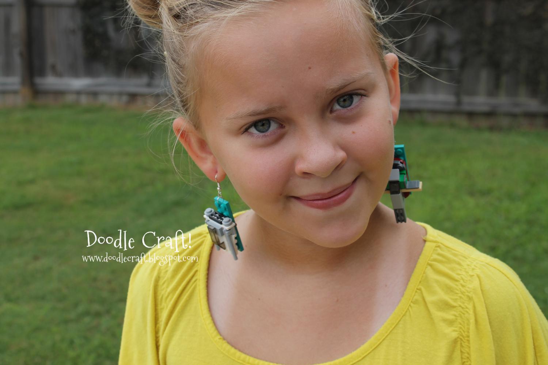 nature lego earrings