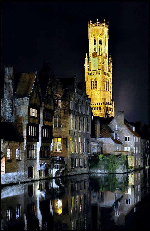 10 Best Places to Holiday in Belgium (100+ Photos) | Belfry of Bruges at Night