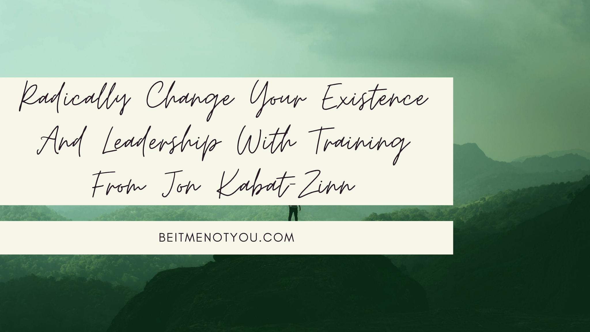 Radically Change Your Existence And Leadership With Training From Jon Kabat-Zinn