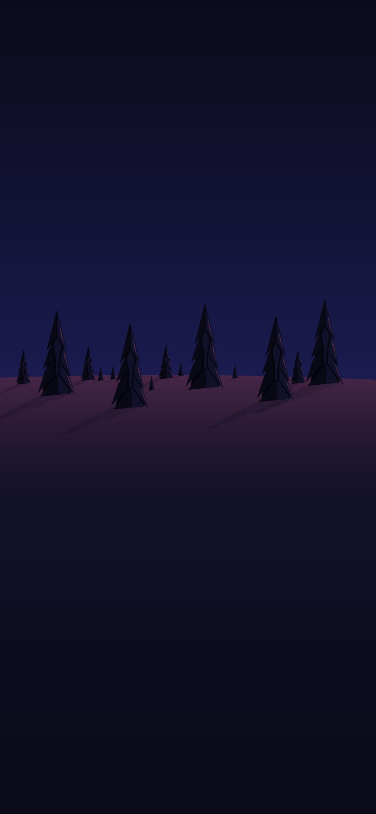 minimalist forest night phone background wallpaper 4k