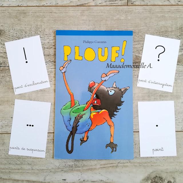 Livre Plouf ! - Cartes de nomenclature Signes de ponctuation Maaademoiselle A. Shop