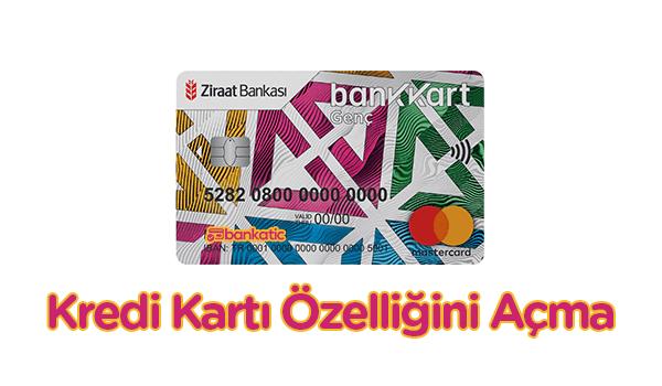 Ziraat Genç Bankkart Kredi Kartı Aktif Etme