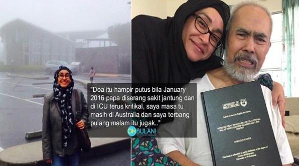 Sebak Lihat Gambar Ini- Norzizi Beri Hadiah PhD Untuk Ayah, Netizen Sebak Lihat Ekpresi Zulkifli Zain