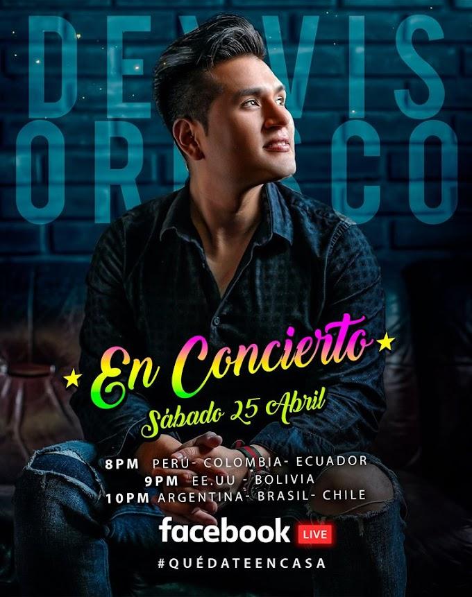 Deyvis Orozco Concierto online - 25 de abril