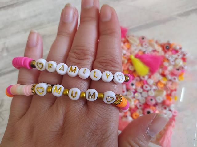 DIY : Perles Heishi bracelets Mum et Family