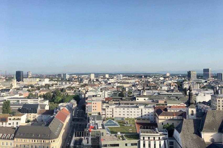 Ausblick Richtung Süden Linz