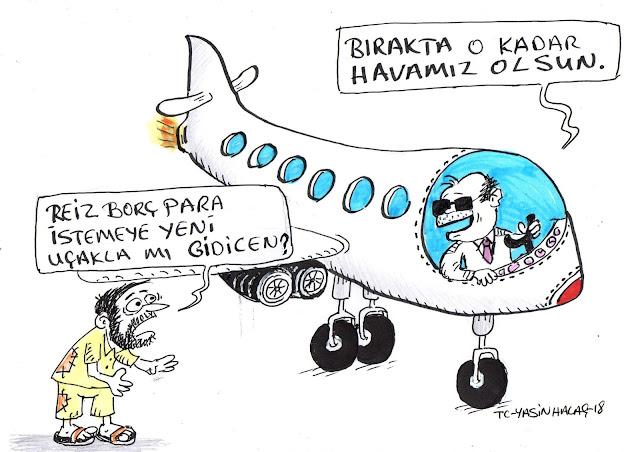 yeni uçak tayyip erdoğan karikatür