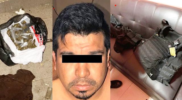 12 Sicarios lo cuidaban entre ellos un policía era narco líder del CDN, pero ya nada pudieron hacer contra Marinos y Militares