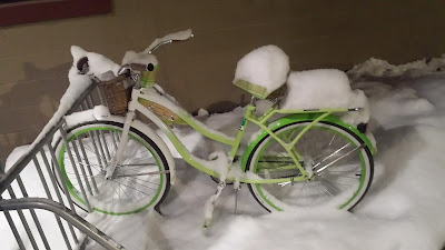 vélo bike snow neige interlochen michigan