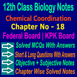 12th Class Biology Chapter 18 Notes In PDF KPK Board And Federal Board