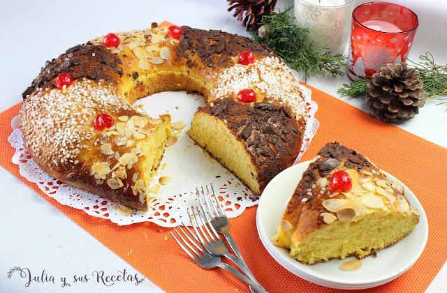 Roscón de Reyes de zanahoria. Julia y sus recetas