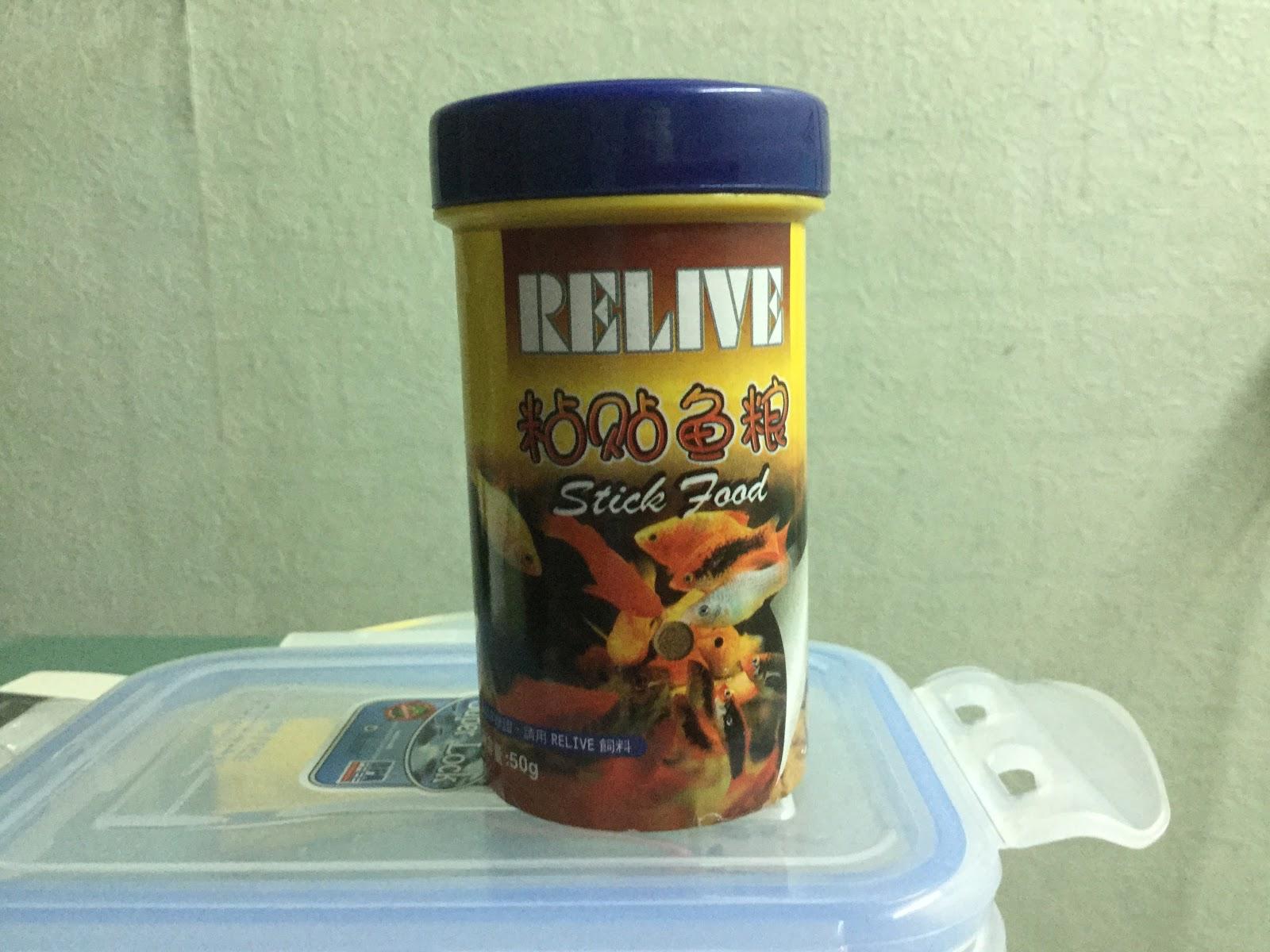 Thức ăn cho cá dạng viên dán vào kính Relive