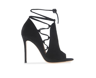 Gianvito Rossi Spring Summer 2016 Shoes  jennie black side lace up open toe stiletto booties