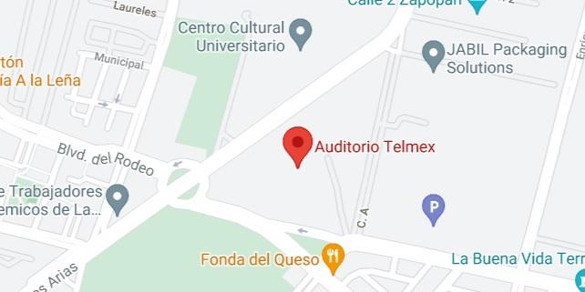 Mapa de Ubicación del Auditorio Telmex