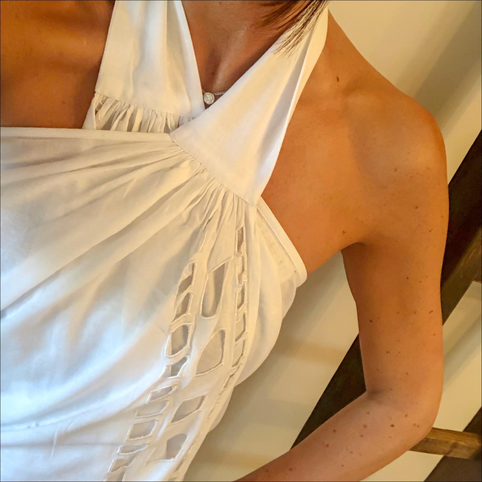 my midlife fashion, coco bay, coco bay ivory seaglass baydress