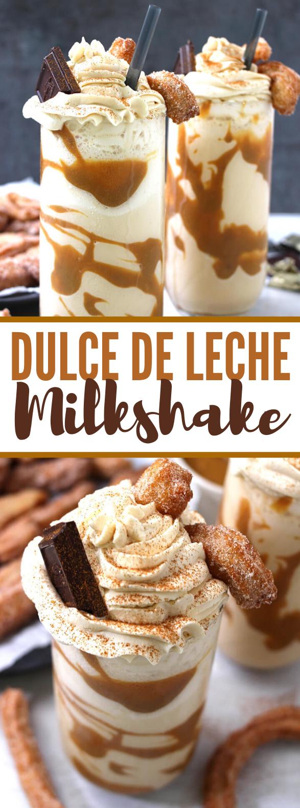 DULCE DE LECHE MILKSHAKE #drinks #sweets