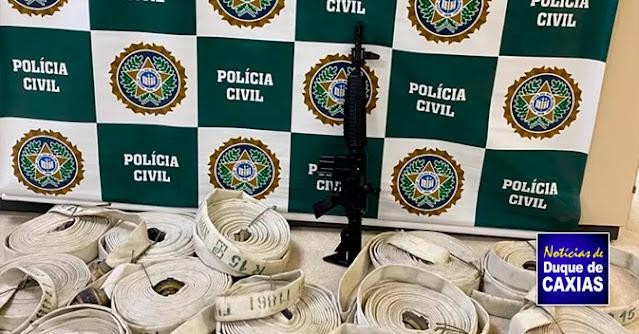 Polícia Civil descobre depósito clandestino de combustível em Duque de Caxias