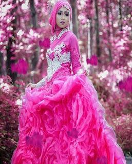 gaun pengantin muslimah dian pelangi
