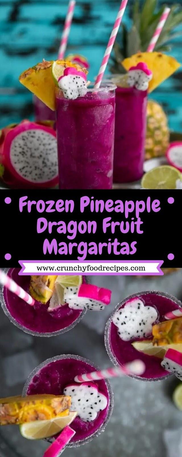 Frozen Pineapple Dragon Fruit Margaritas
