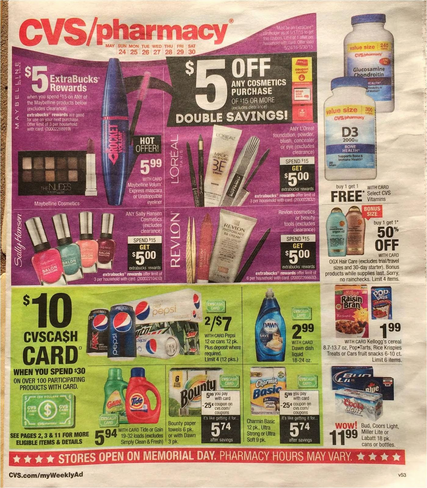 Simply Cvs Cvs Ad Scan Preview For The Week Of 5 24 15