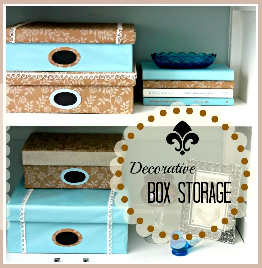Vintage, Paint and more... diy decorative storage made from shoe boxes and wrapping paper