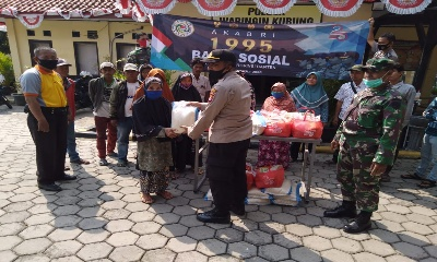 25 Tahun Pengabdian AKABRI 95, TNI-Polri Gelar Baksos