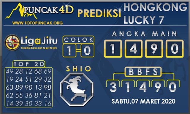 PREDIKSI TOGEL HONGKONG LUCKY7 PUNCAK4D 07 MARET 2020